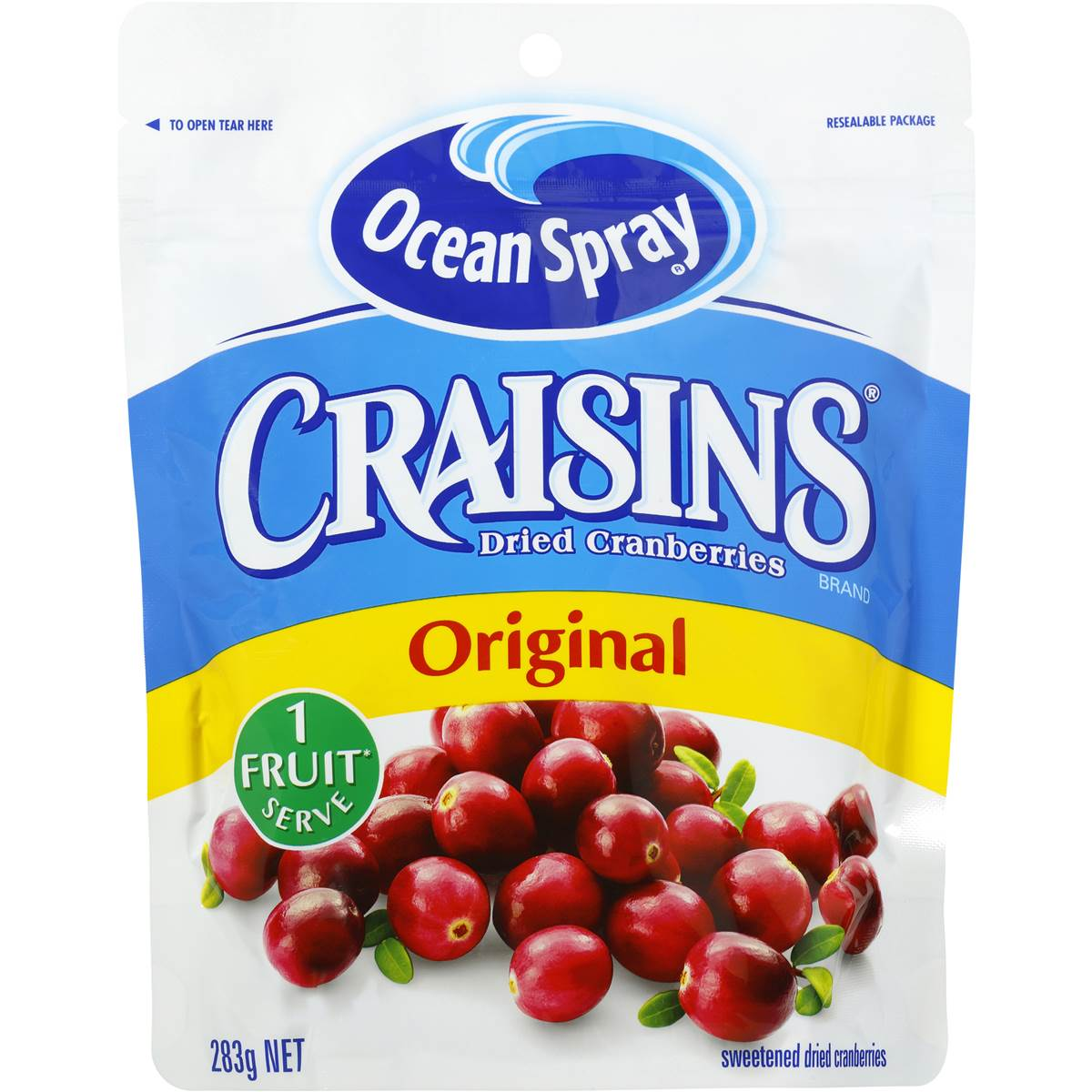 Nam Việt Quất Ocean Spray Craisins Dried Cranberries Original 280g