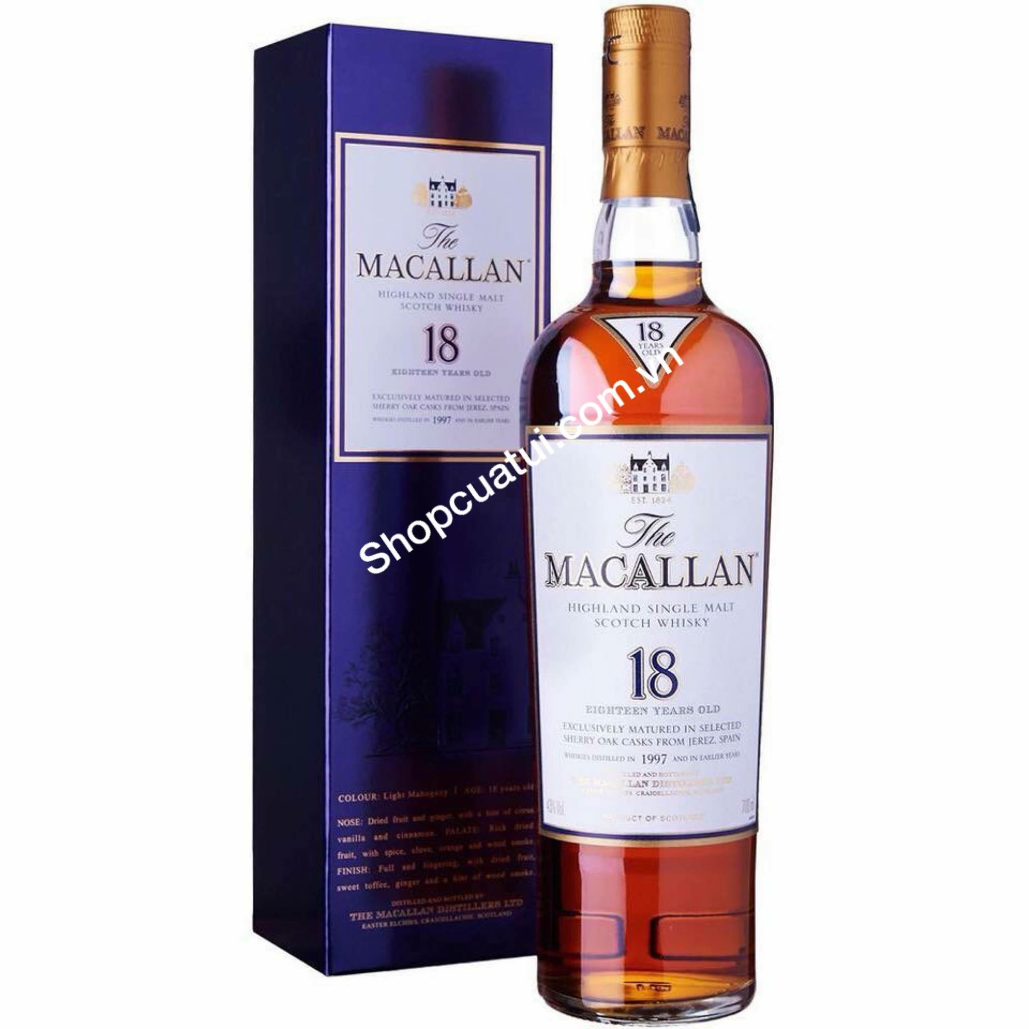 RƯỢU MACALLAN 18 (700ml)