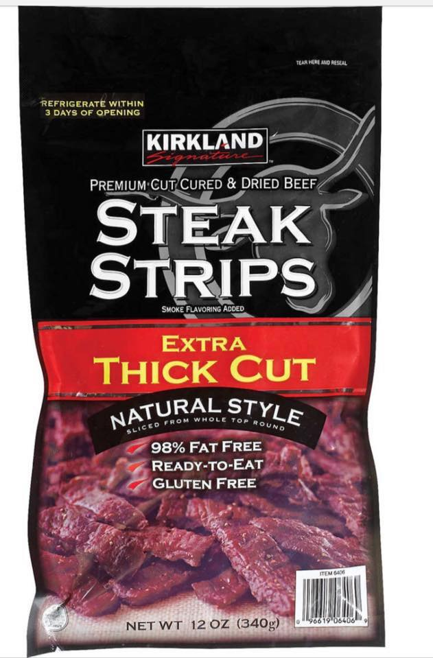 Thịt Bò khô Kirkland Signature™ Steak Strips Extra Thick Cut (12oz-340g)