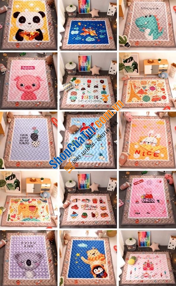 THẢM cotton 1,5mx2m SweetHome101218_1