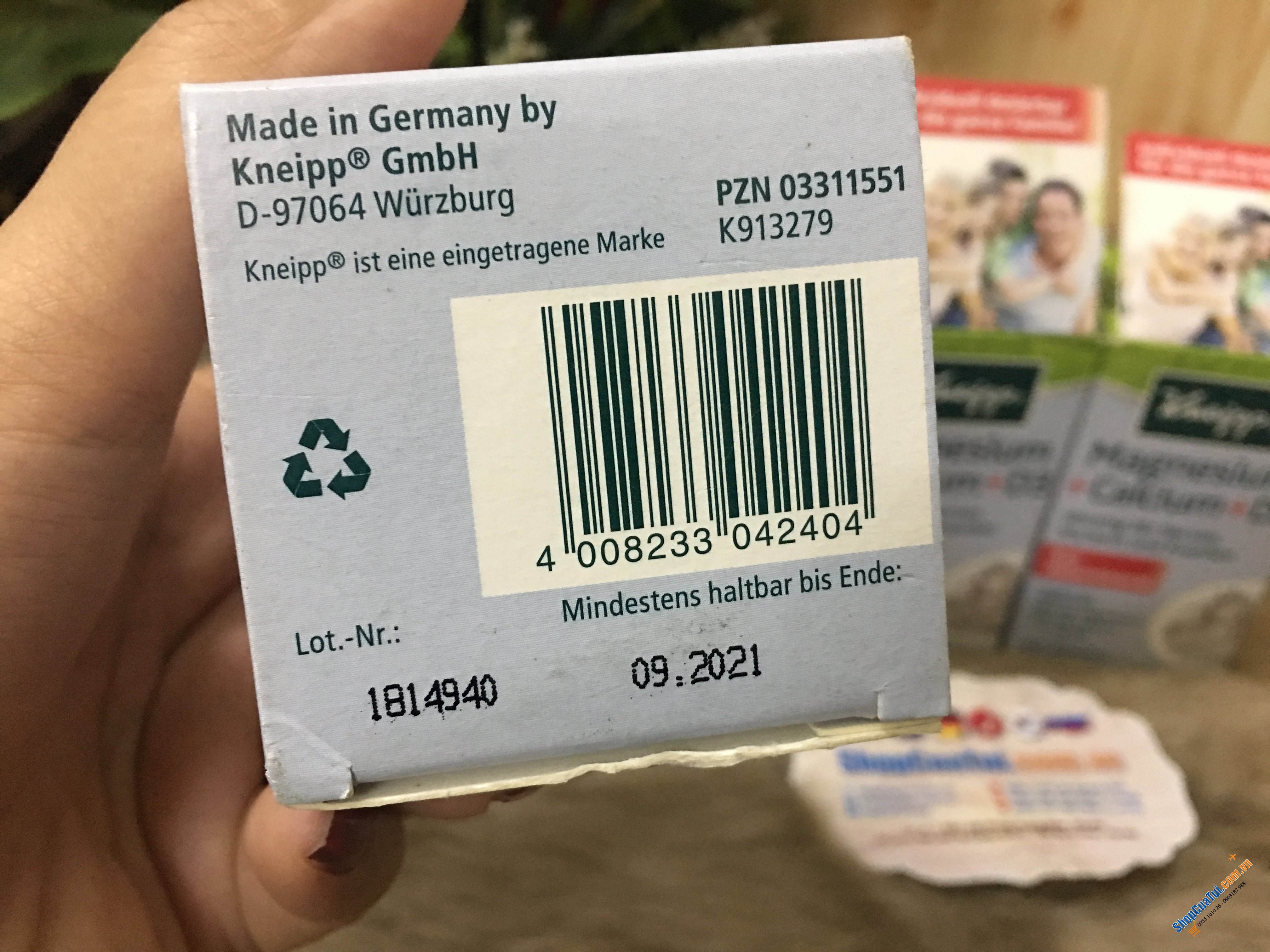Thuốc Kneipp Magnesium + Canxi + D3