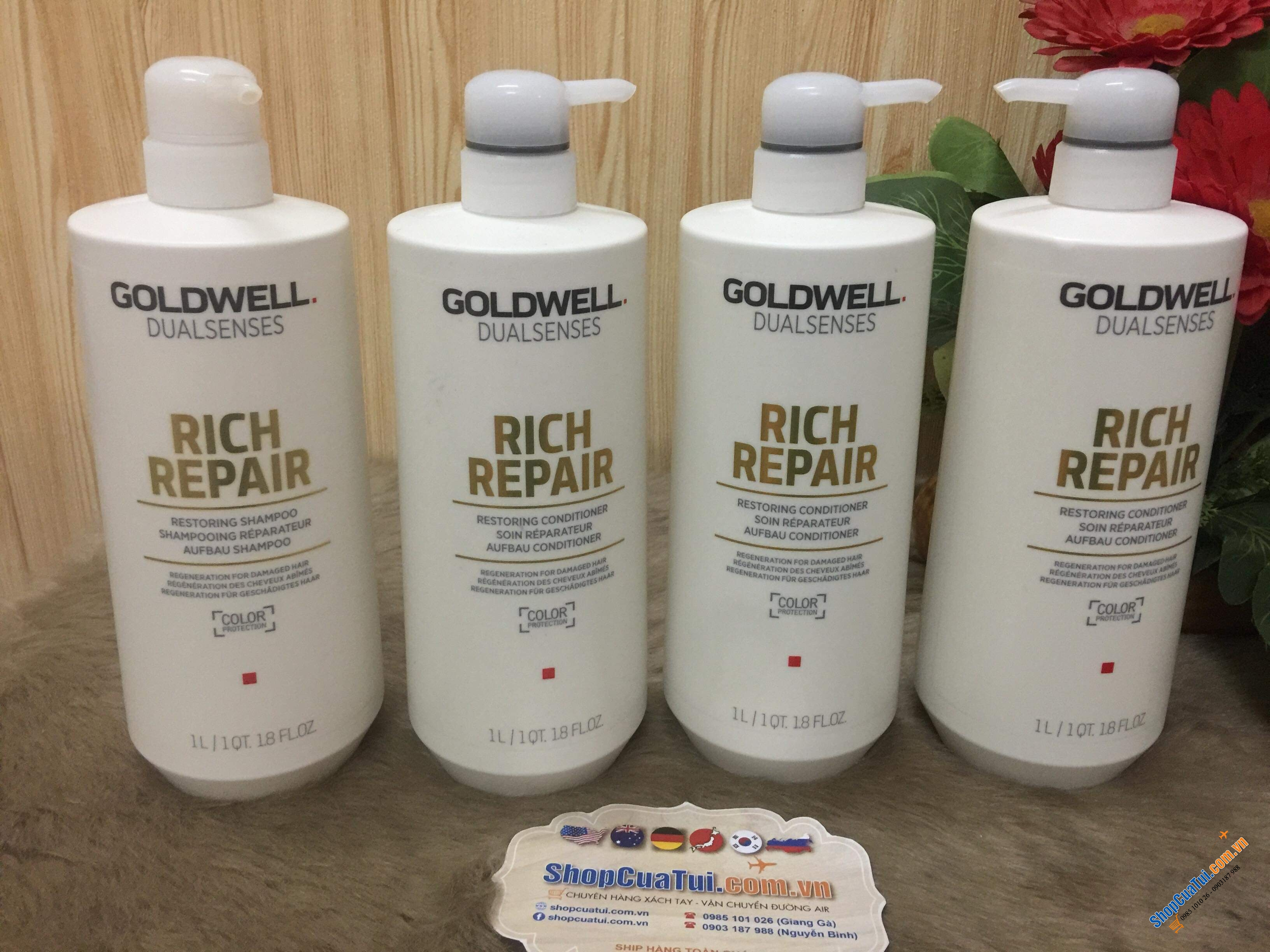 Dầu gội Goldwell Dualsenses Rich Repair Cream Shampoo