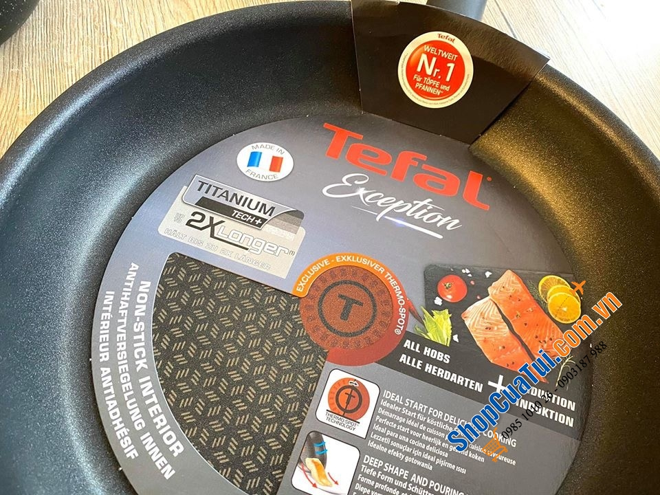 CHẢO TEFAL AUTHENTIC/ EXCEPTION - MADE IN FRANCE.