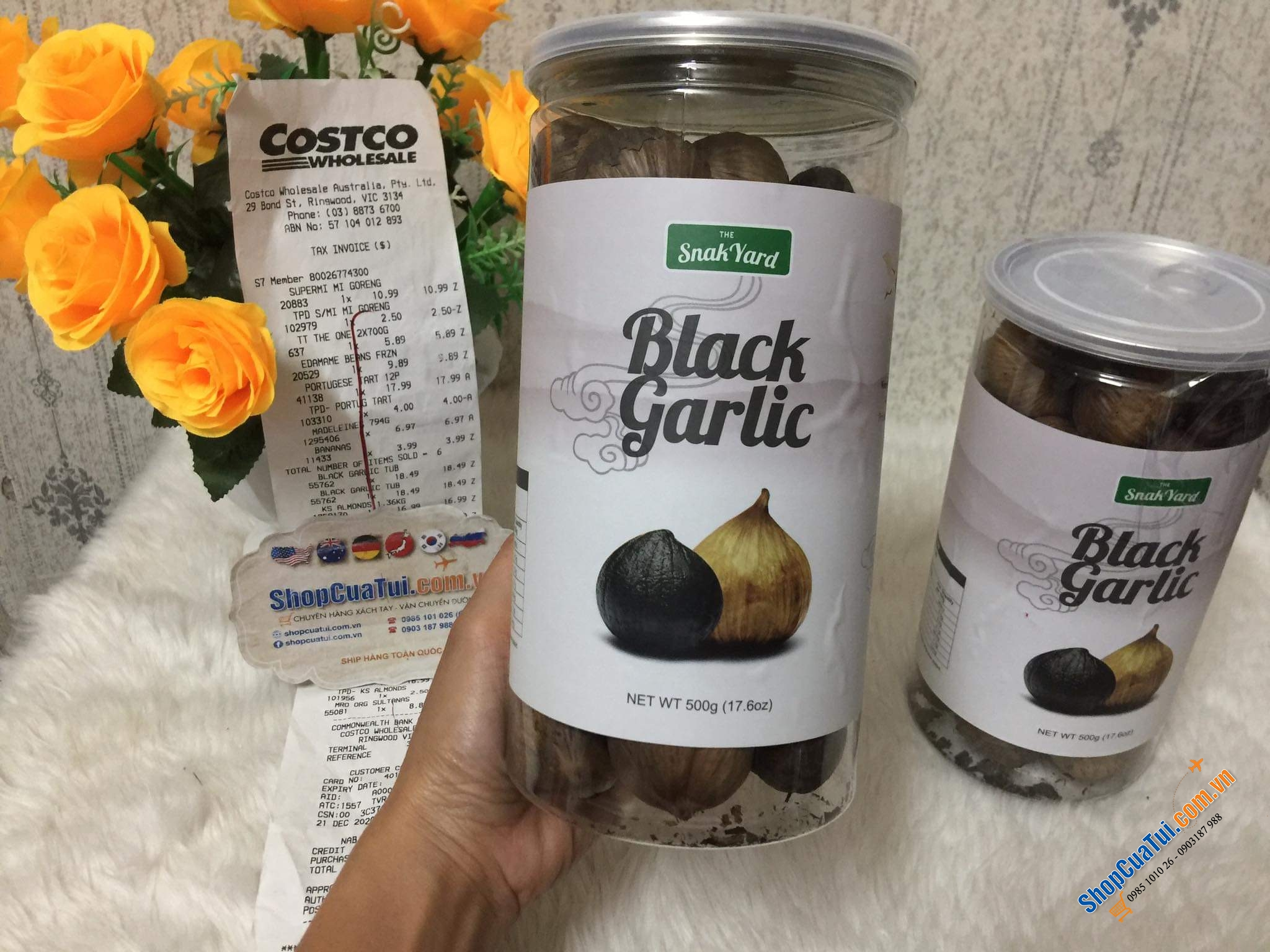 Tỏi đen The Snak Yard Black Garlic 500g Net