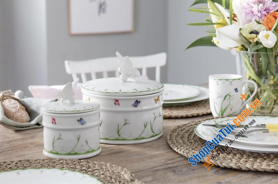 HŨ SỨ CAO CẤP VILLEROY BOCH COLOURFUL SPRING - MADE IN GERMANY.
