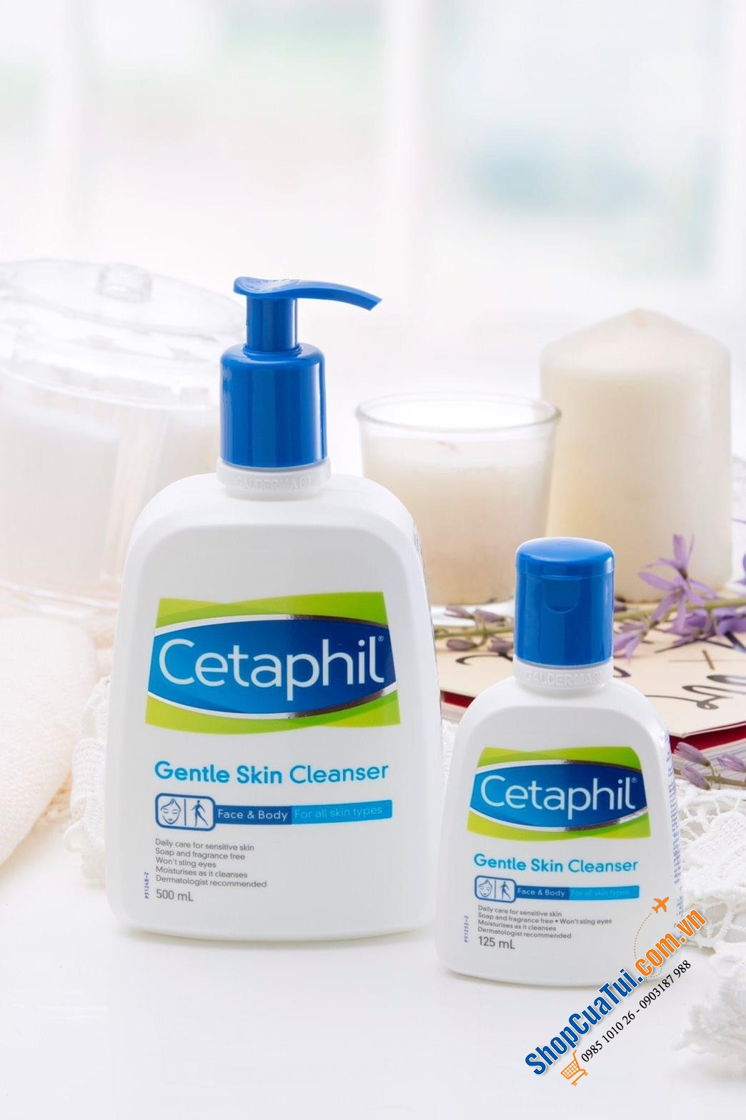 Sữa Tắm, rửa mặt Cetaphil Gentle Skin Cleanser for Face & Body 250ml - Made in Canada